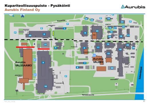 Aurubis parking area map